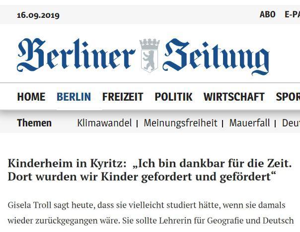 Berliner Zeitung Gedenkstele Kyritz